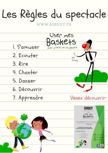Les règles du spectacle - User mes baskets - Spectacle vivant à but pédagogique